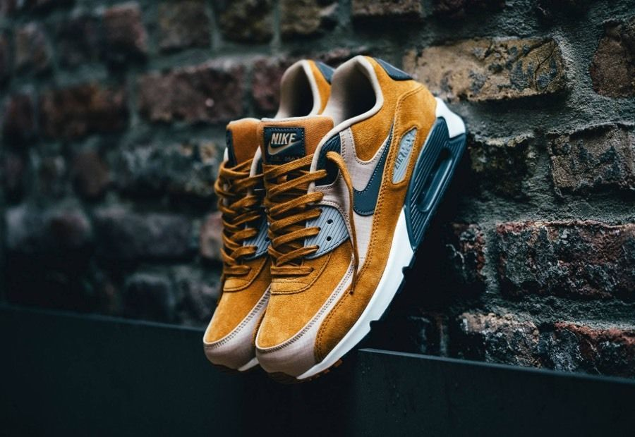 Nike Air Max 90 Premium PRM desierto ocre Lino Brown UK 7