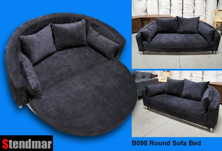 new modern fabric round sleeper bed sofa b098 b098rd new modern black fabric round sleeper bed sofa b098 stendmarusa modern new modern black fabric round sleeper bed sofa b098 le furniture