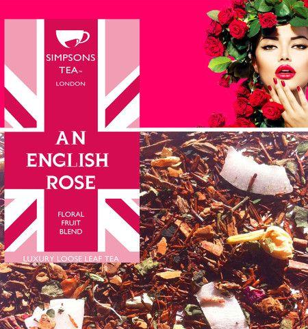 AN ENGLISH ROSE - loose leaf cinnamon rooibos herbal tea   AN ...