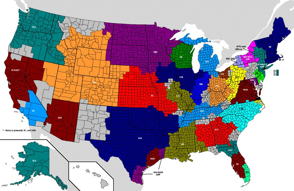 Issues The United States Are Not Totally United On - Us map nfl teams