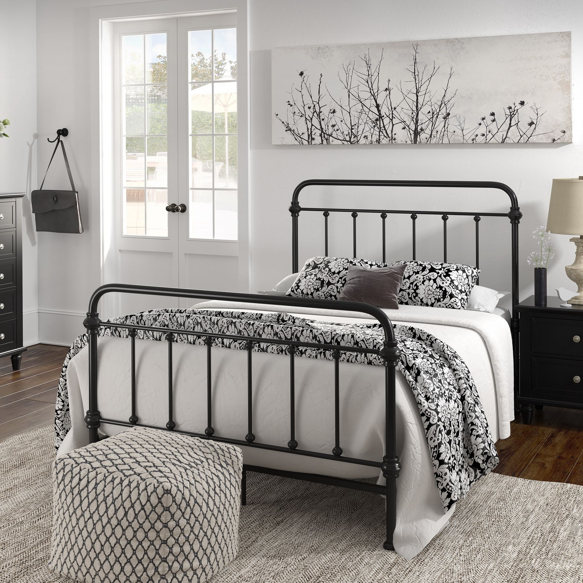 Weston Home Nottingham Metal Full Bed Antique Black Walmart Com In 2021 Black Bed Frame Iron Bed Frame Black Metal Bed Frame Black metal bed frame full