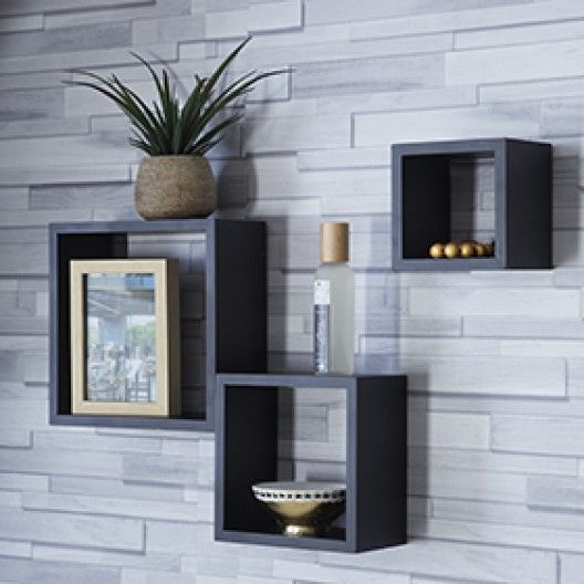 Etagères Murale 3 Cubes Decoracion En 2019 Wall Shelves Design