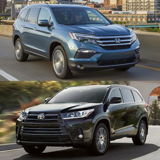 2019 Honda Pilot Vs 2019 Toyota Highlander Comparison Which Is Better To  Buy?