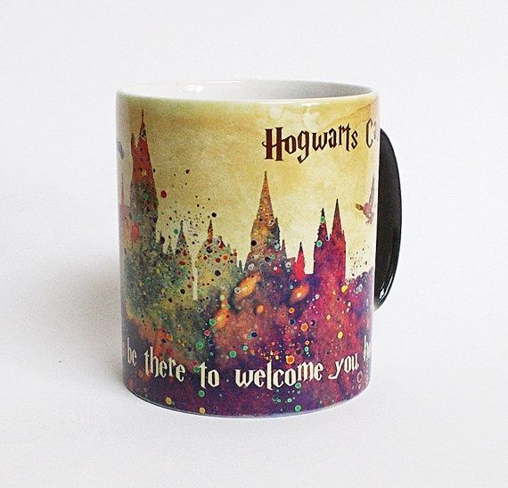 00c194dd71d Hogwarts Castle Color Changing Mug Harry Potter Quote by ArtsPrint ...