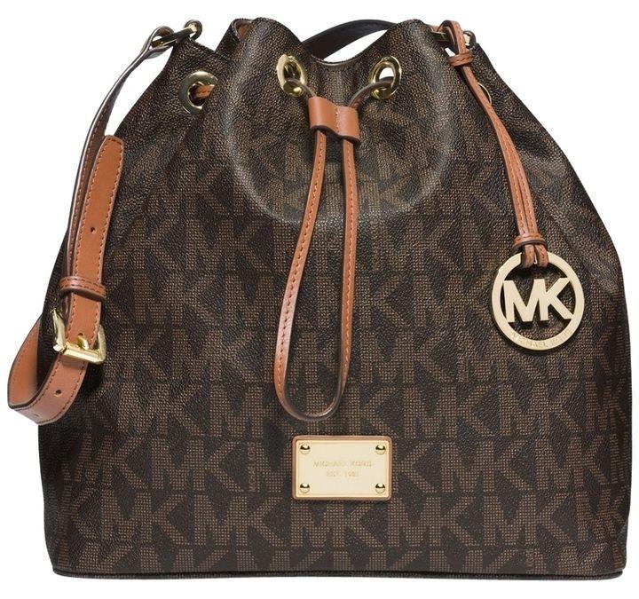 Michael Kors Signature Jules Large Convertible Bucket Shoulder Bag ...