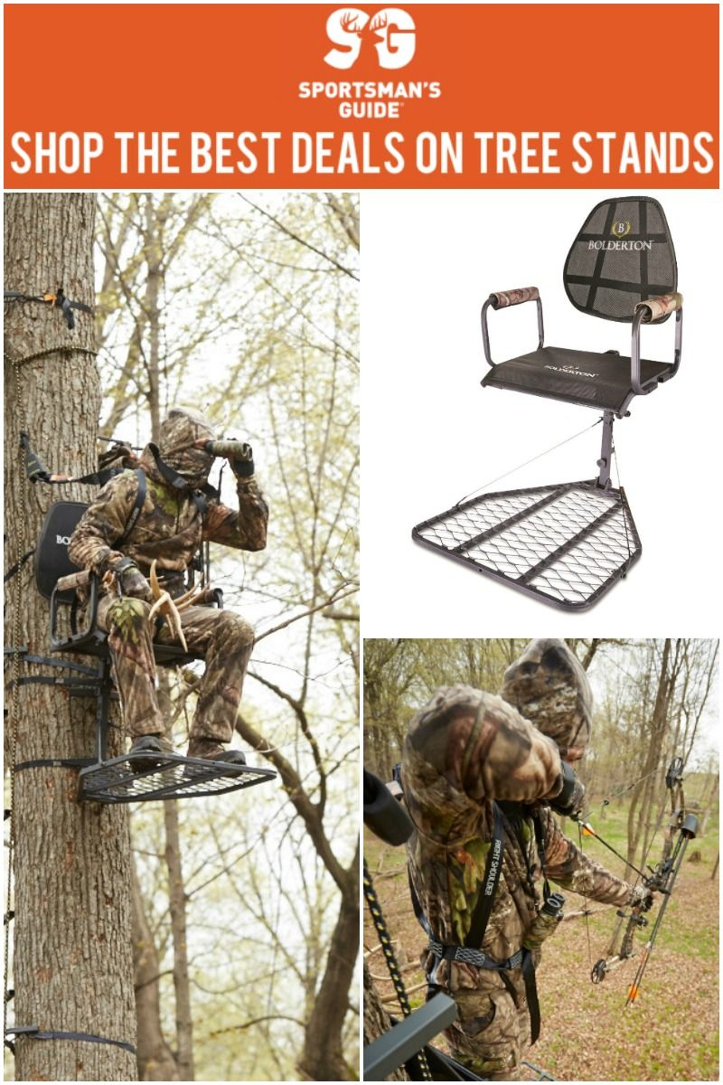 Bolderton & Guide Gear tree stands are built for hunters