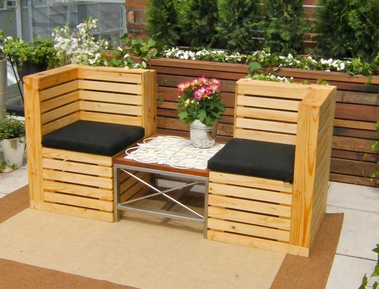 Salon de jardin en palette –une solution écolo offrant de ...