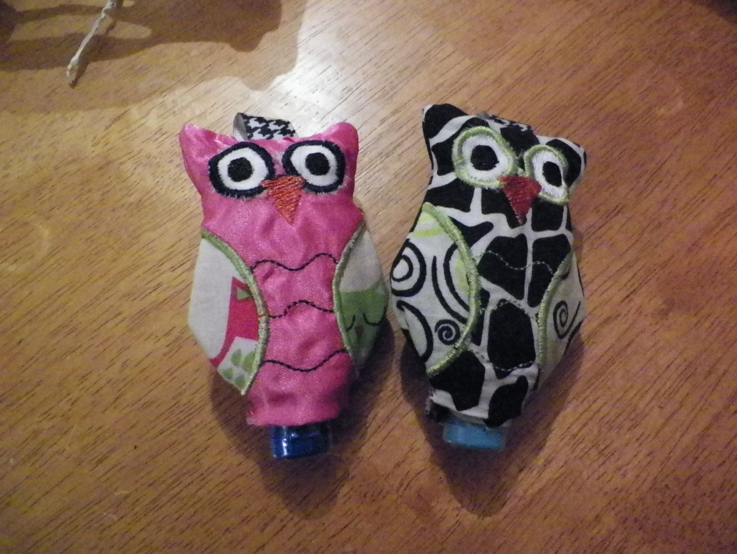 Small Embroidered Owl Hand Sanitizer Holder Keychain Sanitizer