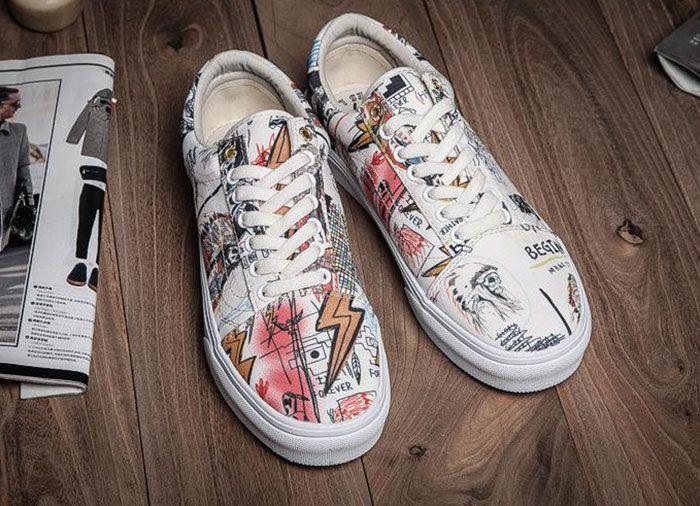 White Wes Lang X Vans Vault OG Old Skool LX Skate Shoes