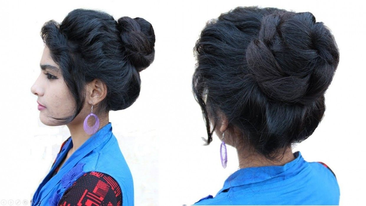 Simple Juda Hairstyle For Medium Hair Di 2020 Gaya Rambut Rambut Model