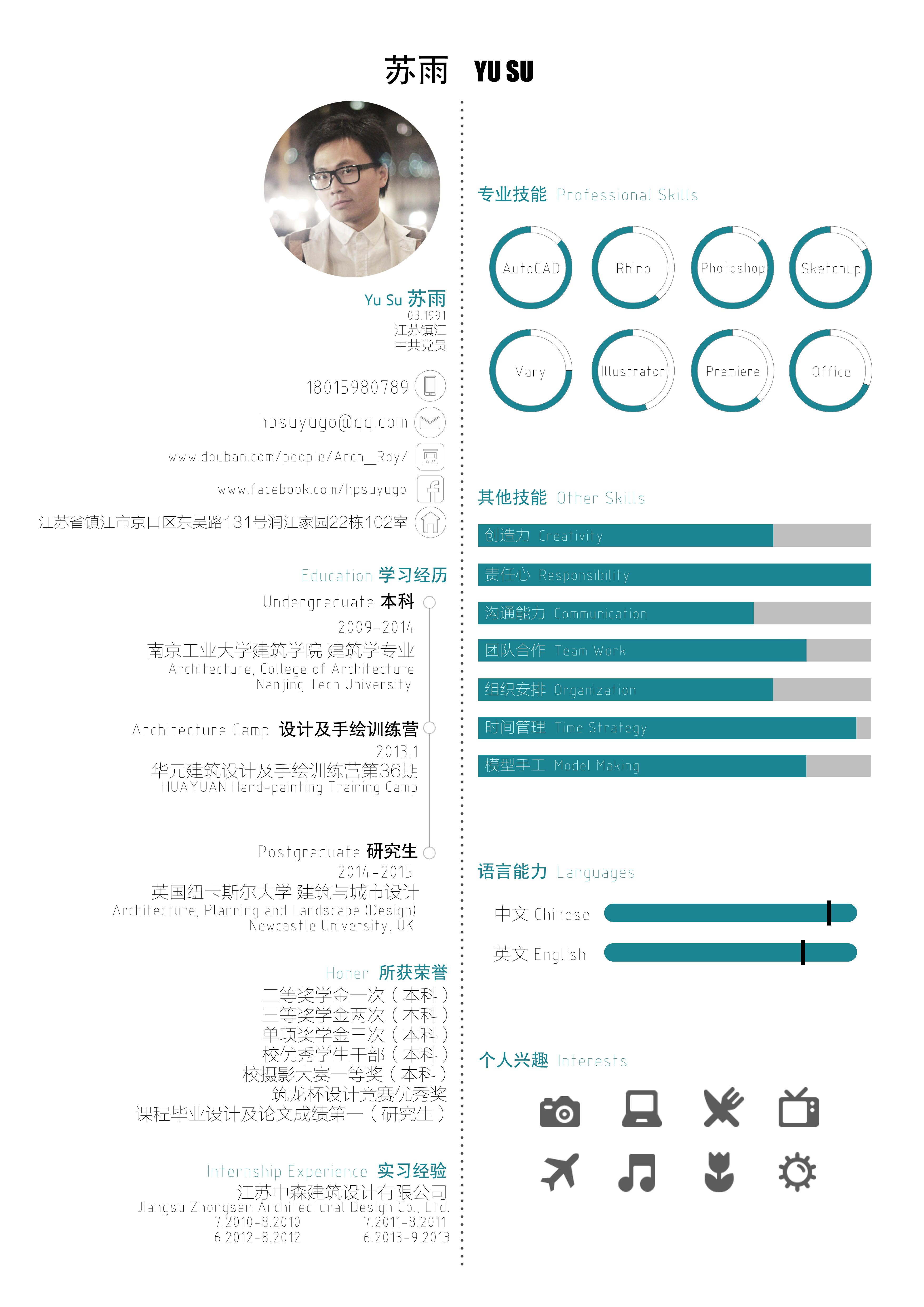 architect curriculum vitae 2015 chinese  english version