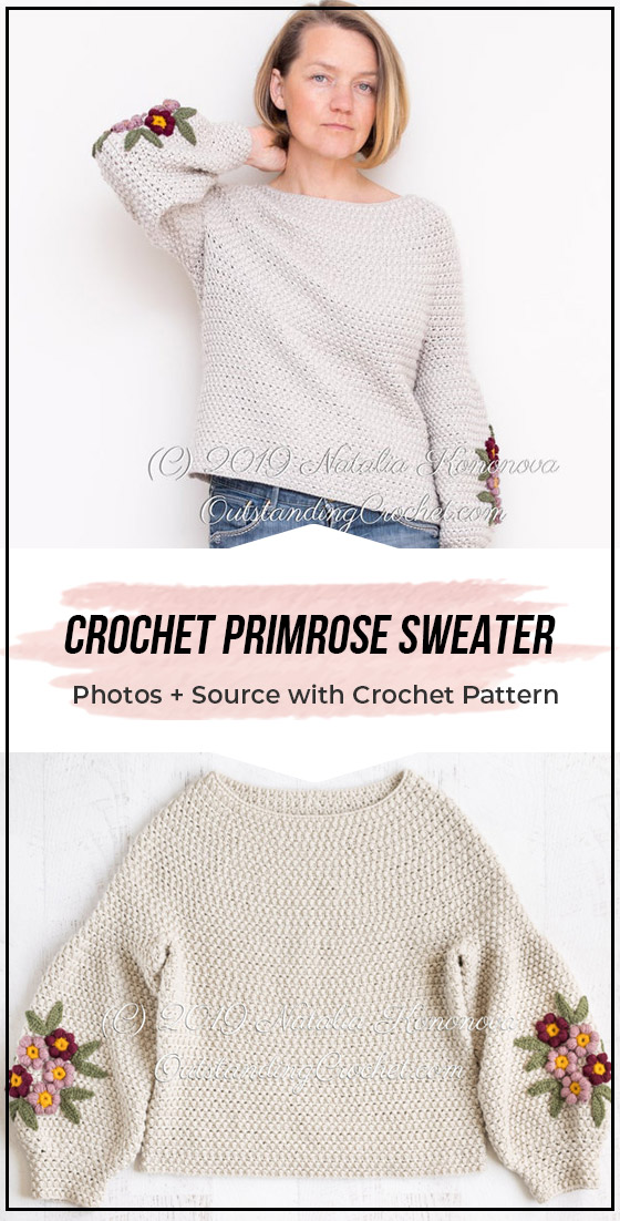Crochet Primrose Sweater easy pattern