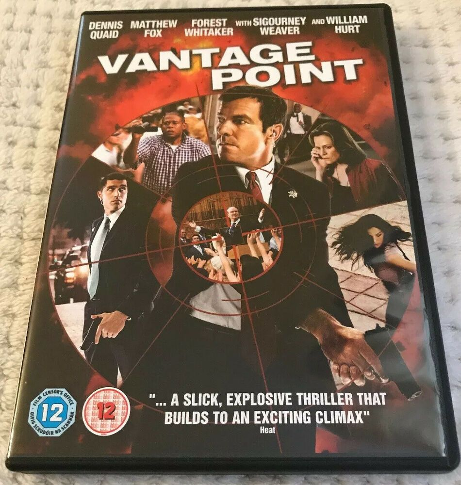 Vantage Point DVD (2008) Dennis Quaid Great Quality Low