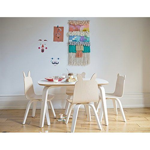 Merveilleux Buschman Set Of Table And 2 White Kids Eames Style Retro Modern Dining Room  Mid Century Shell Chair Metal Natural Wood Dowel Leg Base Plastic Molded  Armless ...