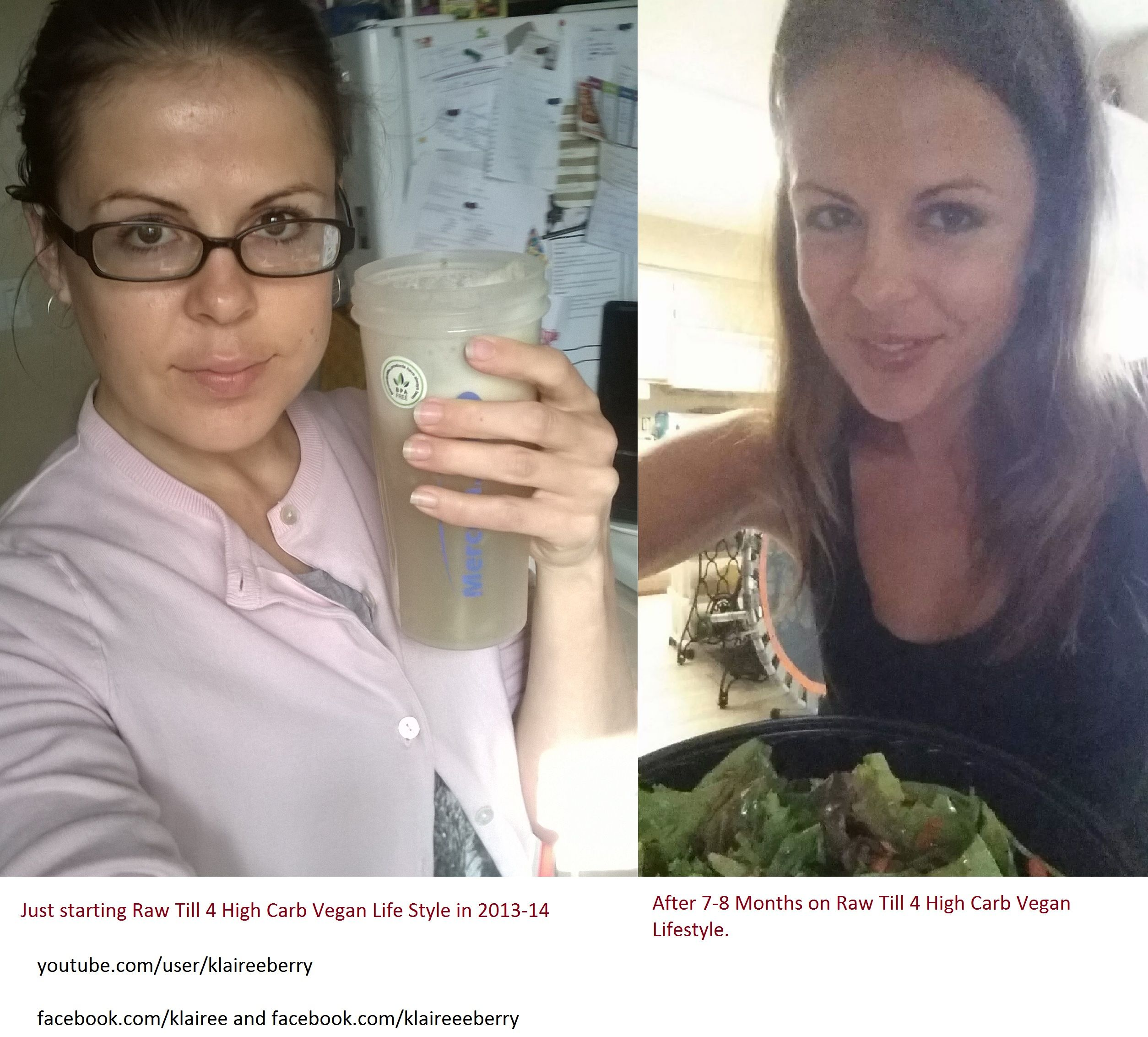 Before and After:  3000 Calories/Day High Carb Vegan Diet