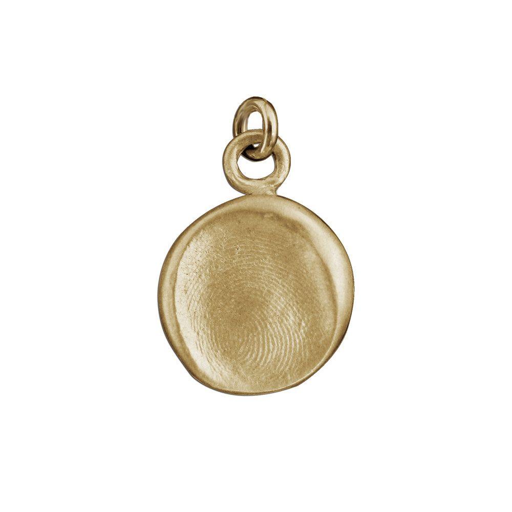 Child S 14k Gold Fingerprint Or Thumbprint Pendant Thumb Etsy Fingerprint Jewelry Thumbprint Necklace Printed Jewelry
