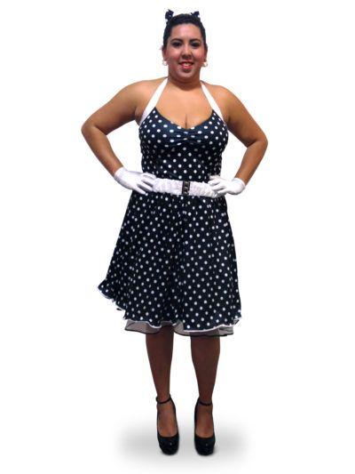517e8c584a02 vestidos de bolas anos 60 modelo para gordinhas | vestidos em 2019 ...