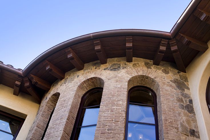 Back exterior mediterranean tuscan european for Tuscan roof design