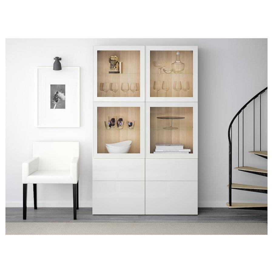 Ikea Besta Sideboard Weiß Hochglanz