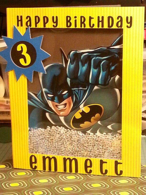Batman Birthday Shaker Card   Kids cards, Batman birthday ...