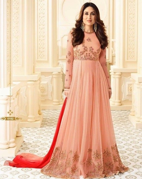 Indian Designer Bollywood Party wear Gown Style Salwar Kameez Suit ...