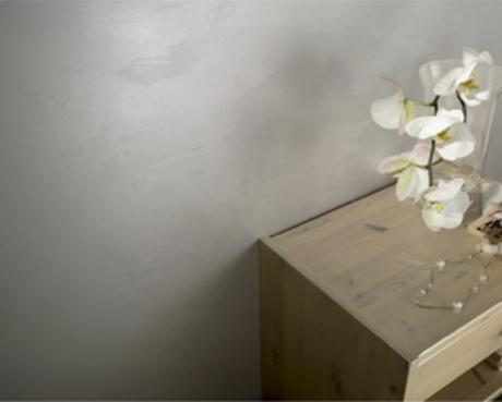 Peinture effet décoratif enduit effet nacré pour murs salon ou chambre