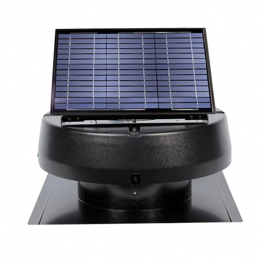 U S Sunlight 1 600 Cfm Black Galvanized Steel Solar Power Roof Vent Roofingequipment Solarpanels Solarenergy Solarpower Solargenerat