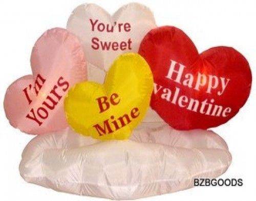 Valentine's Inflatable 5 Foot Hearts Cloud Yard Blow Up Decoration Cute New
