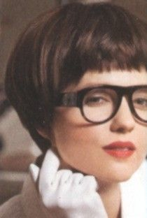 Short Bob With Bangs And Glasses Straight Hairstyles Short Straight Hair Fine Straight Hair