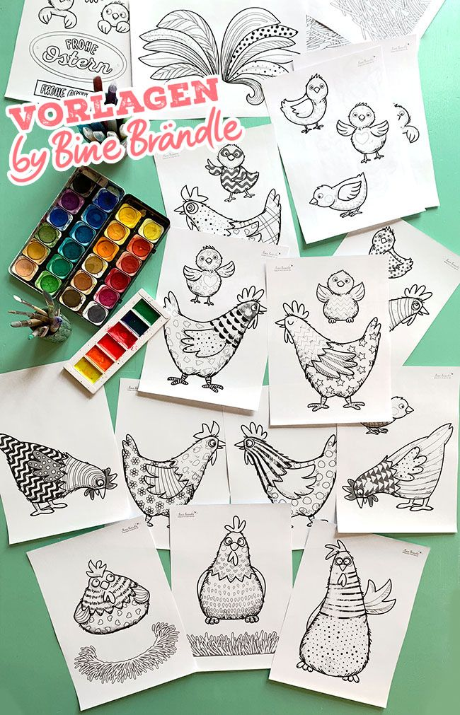 die verrückten hühner  bines shop  postkarten gestalten