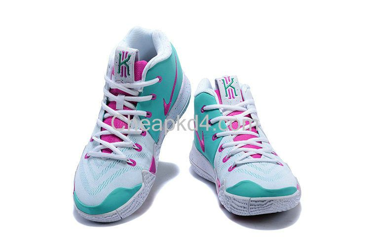 on sale 14b4c 79246 Latest Cheap New Arrival March 2018 New Nike Cheap Kyrie 4 IV White and Pink -Mint Green