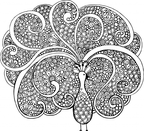 advanced animal coloring pages 16 - Advanced Mandala Coloring Pages