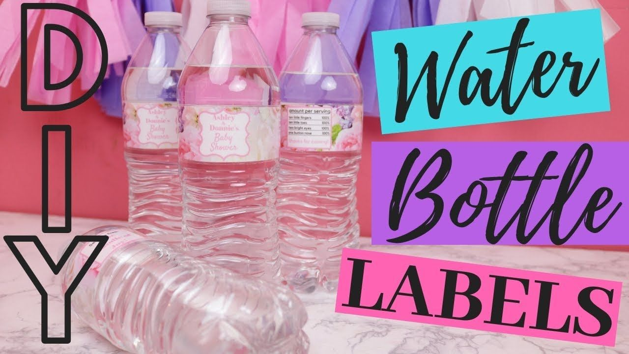 How to make your own custom diy water bottle labels
