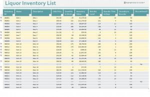 Free Bar Inventory Control Excel Template HttpMyexceltemplates