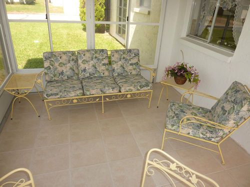 Details About Vintage Wrought Iron Patio Furniture