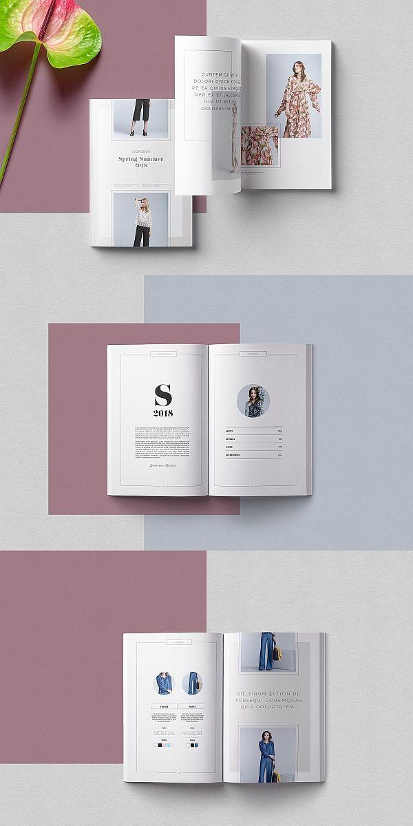 Pleuvoir Lookbook Template Portfolio Lookbook Brochure Template Indesign Fashion Booklet Design Layout Catalog Design Layout Booklet Design