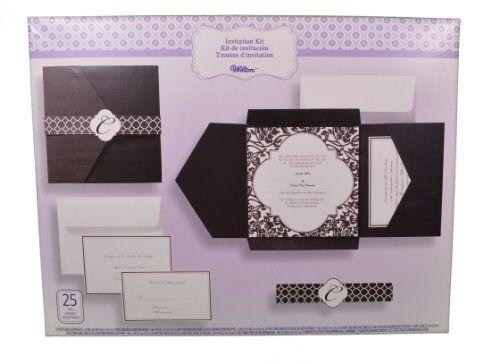 Set Of 25 Wilton Wedding Black And White Vintage Pocket Invitation Kit 15 00 Wedding Invitation Kits Homemade Wedding Invitations Wedding Invitations Diy