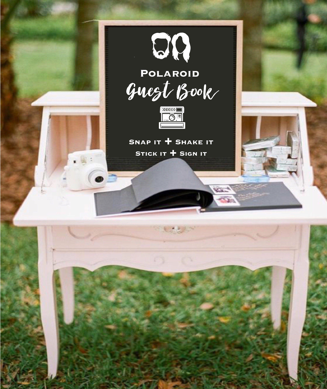 Fun guest book alternative! Polaroid guest book! Hipster wedding ideas!