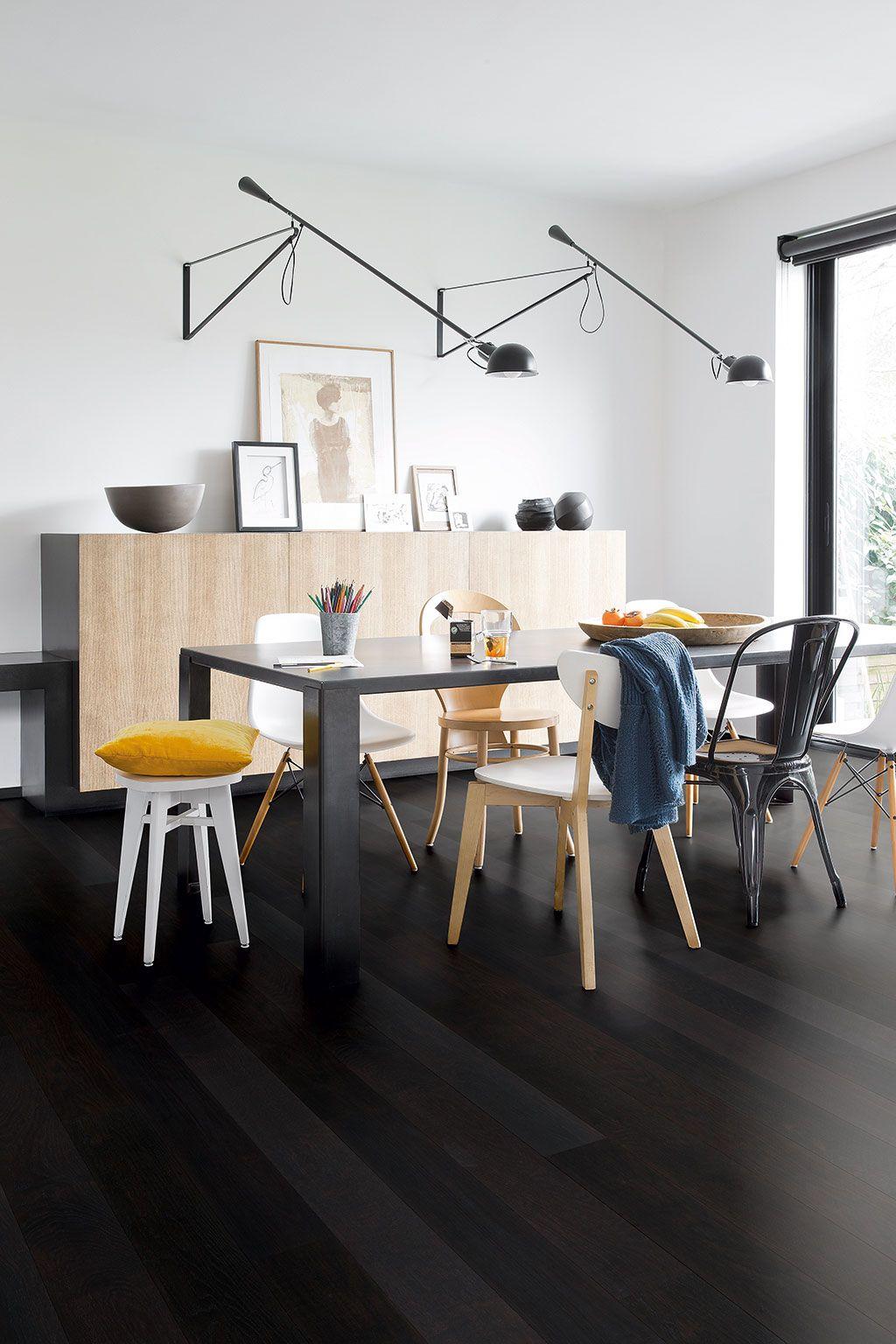 Quick Step Parquet Flooring  Castello U0027Polar Oak Satin, Planksu0027 (CAS1343