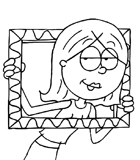 Lizzy Mcguire Holding A Picture Frame Coloring Pages For Kids Fwv Printable Lizzie Mcguire Coloring Pa Coloring Pages Lizzie Mcguire Coloring Pages For Kids