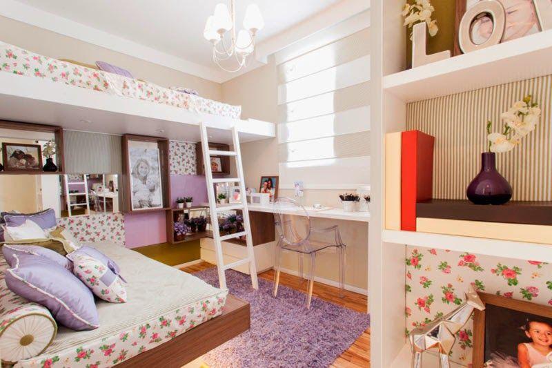C mo colocar dos camas en un dormitorio para ni as dormitorio ni os pinterest - Decoracion habitacion infantil pequena ...