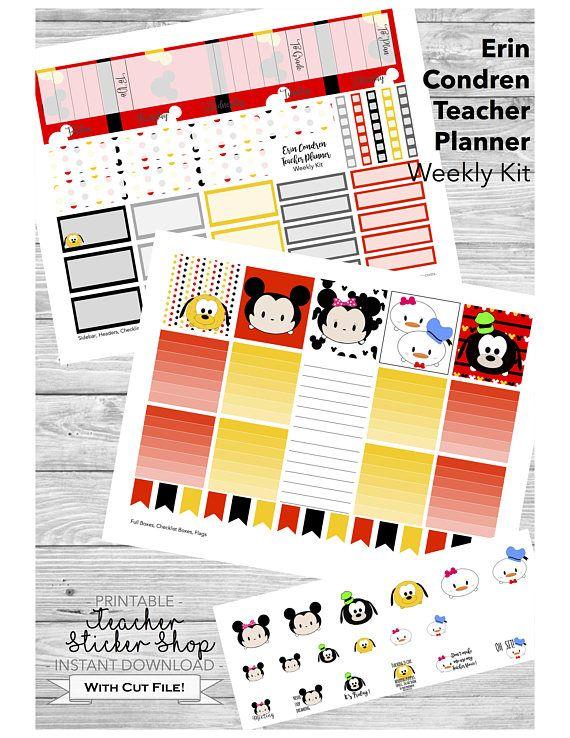 Mouse and Friends - Erin Condren Teacher Planner Weekly