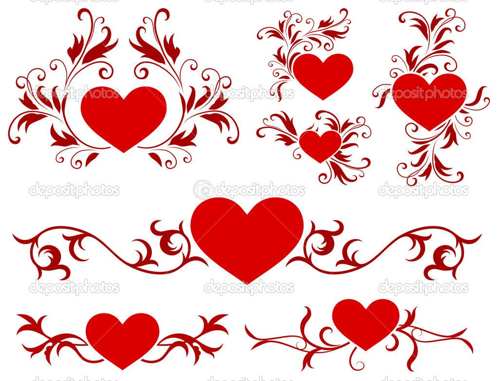 valentines day heart design collection stock vector iconspro - Valentines Designs