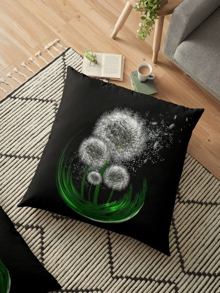 Very beautiful and unique drawings printed on clothes, stickers, mugs, home decor, and more! Beautiful dandelions design, abstract art designs, quotes, animals for any occasion!  Find more products and cool designs in my shop! Amazing paintings for your wardrobe! #pillows #homedecor #homedecorideas #summer #nature #design #artlovers #art #findyourthing #redbubble