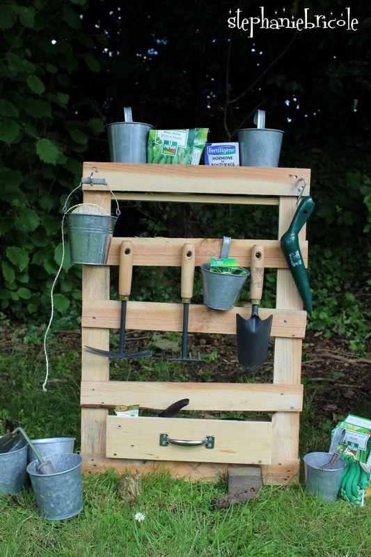 Idée de rangement récup pour le jardin Ranges, Pallets and Garage