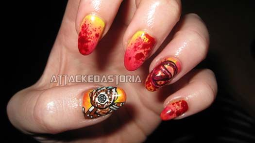 Video Game Nail Art Style Pinterest Check And Girls