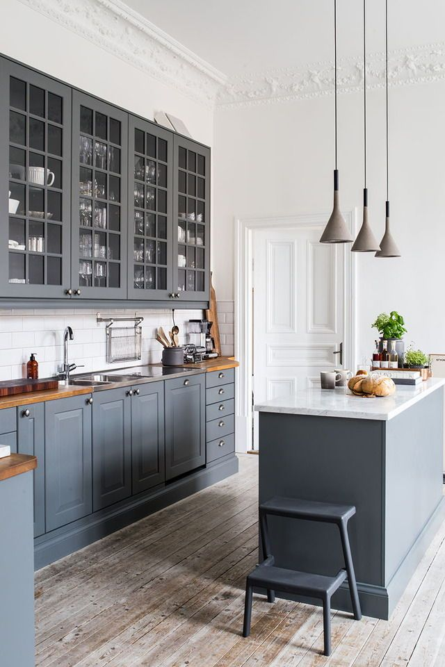 think i like the butcher block on one side white on other new kitchen pinterest haus. Black Bedroom Furniture Sets. Home Design Ideas