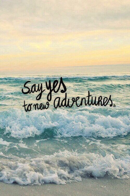 Say yes to new adventures New adventure quotes