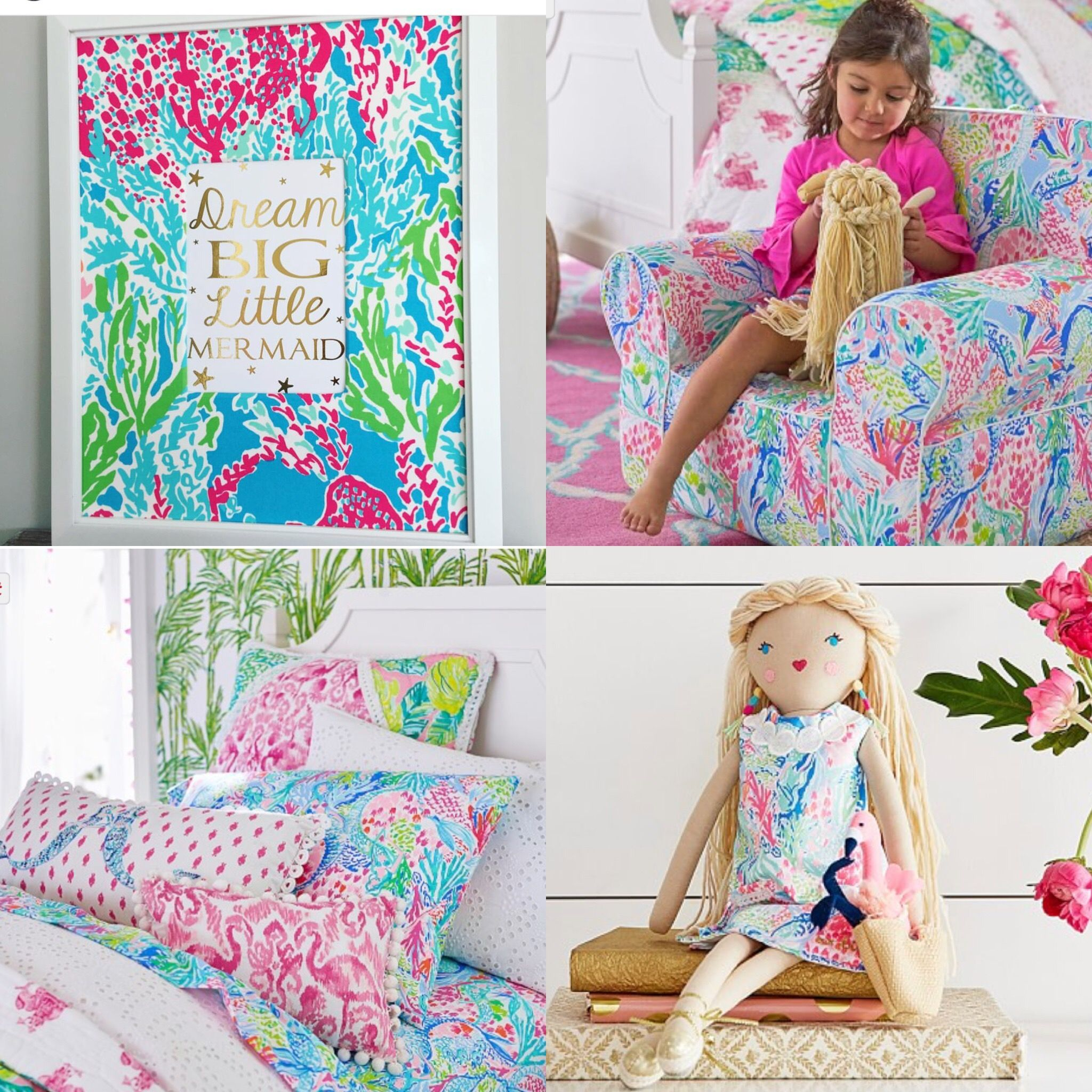 67852dba1c9491 Lilly Pulitzer for Pottery Barn Kids, Mermaid Cove Pottery Barn Kids, Lilly  Pulitzer Bedroom Decor, Lilly Pulitzer Let's Cha Cha, Preppy Girl Decor