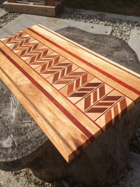 Handmade Chevron Cutting Board Tables Diy Cutting